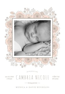 Floral wrap - Birth Announcement