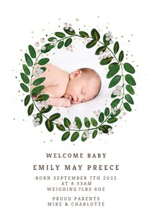 White Bloom - Birth Announcement