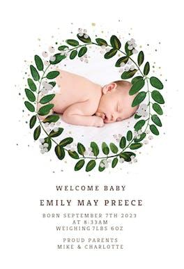 White Bloom - Birth Announcement