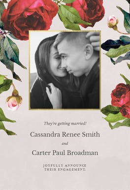 Climbing Roses - Engagement Announcement