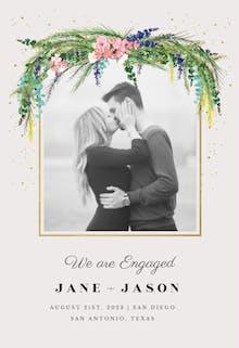 Floral pine - Engagement Announcement