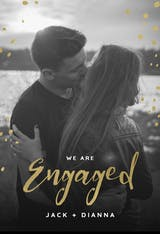 Gold flakes - Engagement Announcement
