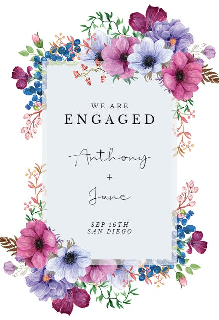 Engagement Announcement Templates (Free) | Greetings Island