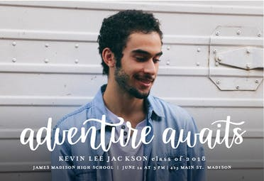Adventure Awaits - Graduation Announcement
