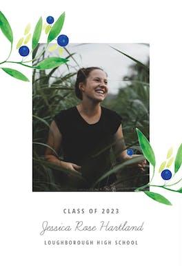 Blueberry fields - Graduation Announcement