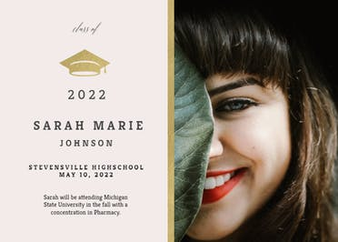 Golden Line - Graduation Announcement