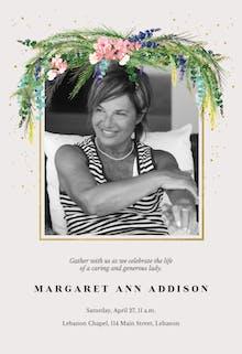 Floral pine - Memorial Card