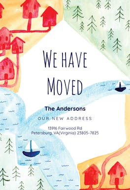 moving announcement card templates free greetings island