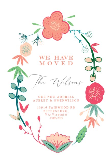 Moving Announcement Templates Free