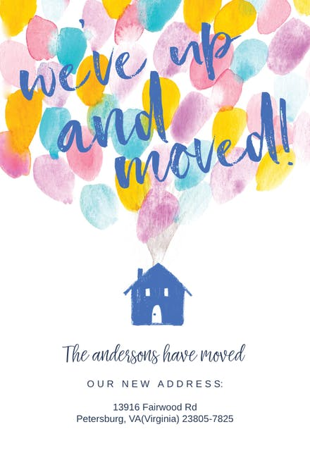 Moving Announcement Templates Free Greetings Island