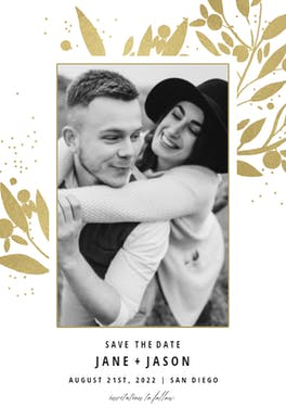 Blueberry fields - Save the Date Card