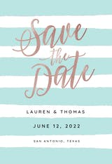 Brushed Stripes - Save the Date Card