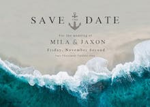 Deep Blue Sea - Save the Date Card