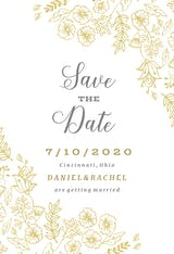 Elegant Flowers - Save the Date Card