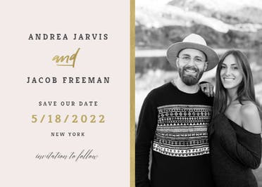 Golden line - Save the Date Card