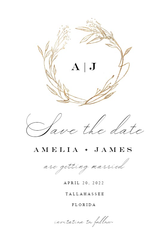 Save The Date Invitation Templett TemplateSimple Save The DatePrintable A6Black and White Save the DateClassical Wedding Template