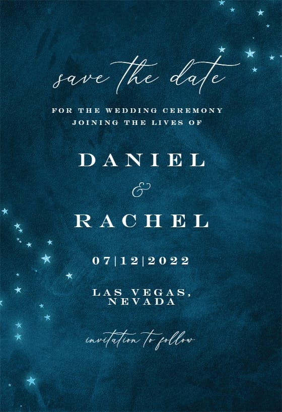 written in the stars save the date outdoor wedding Dark Blue Sky Printable Save the date Starry Night Save the Date save our date