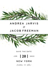 winter wreath - Save the Date Card