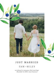 Blueberry fields - Wedding Announcement