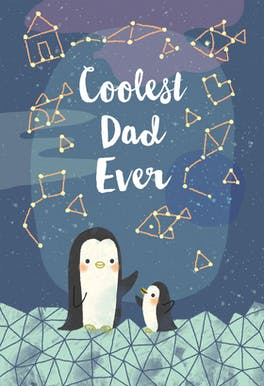 Cool penguins - Happy Birthday Card
