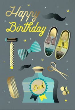 Dashingly Dapper - Birthday Card