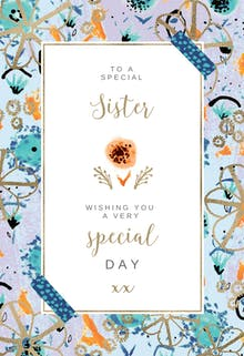 Birthday cards for sister free greetings island natural frame birthday card m4hsunfo