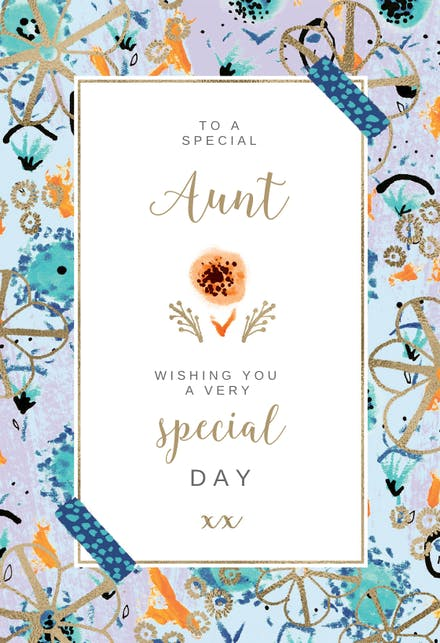 Birthday Cards For Aunt Free