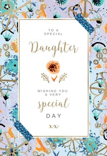 Free birthday cards for daughter greetings island natural frame birthday card bookmarktalkfo