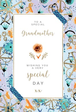 Natural frame - Birthday Card
