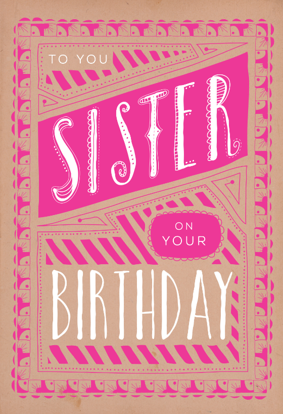 graphic regarding Printable Birthday Cards for Sister identified as Birthday Playing cards For Sister (Absolutely free) Greetings Island