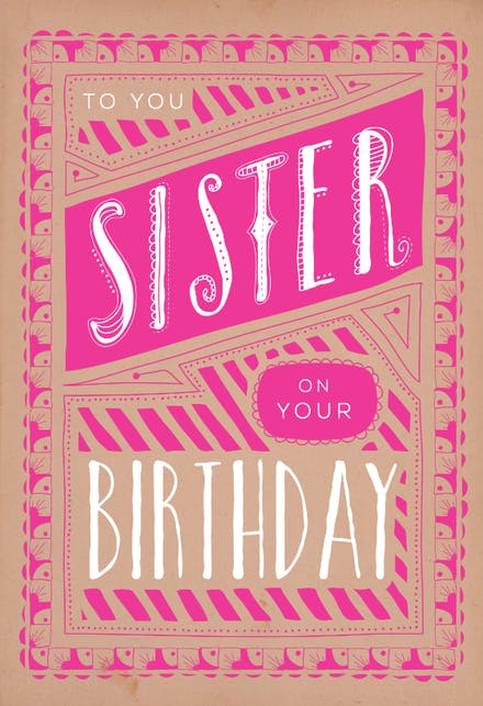 Birthday Cards For Sister Free
