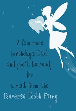 Reverse Toothfairy - Happy Birthday Card
