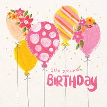 Aerial Art - Printable Birthday Card