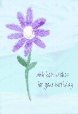Birthday Flower - Happy Birthday Card