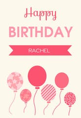 Birthday Greetings - Printable Birthday Card