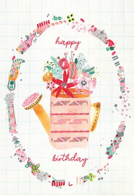 Can Can - Happy Birthday Card