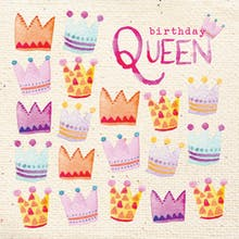 Crowned - Printable Birthday Card