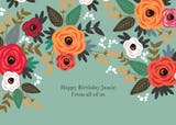 Floral mood - Birthday Card
