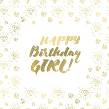 Gem Girl - Happy Birthday Card