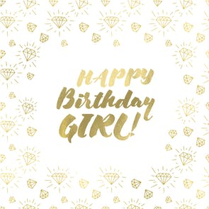 Gem Girl - Happy Birthday Card