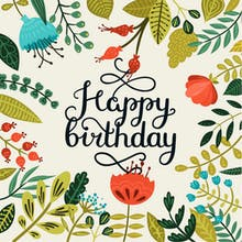 Nod to Nature - Birthday Card