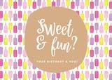 Sweet Line Design - Tarjeta De Cumpleaños