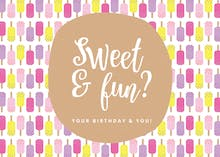 Sweet Line Design - Birthday Card