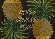 Trending Tropical - Birthday Card
