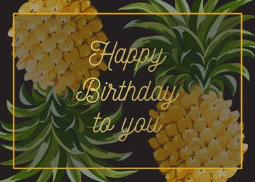 Trending Tropical - Happy Birthday Card