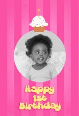 1st Cupcake - Birthday Card