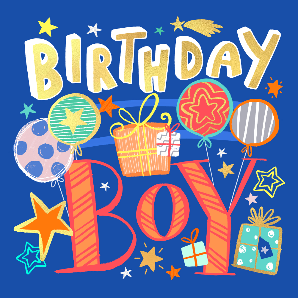 Birthday Boy - Birthday Card (Free)