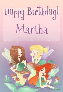 Birthday Fairies - Printable Birthday Card