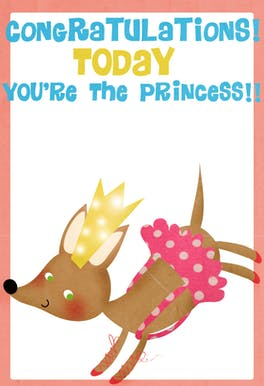 Birthday Princess - Printable Birthday Card