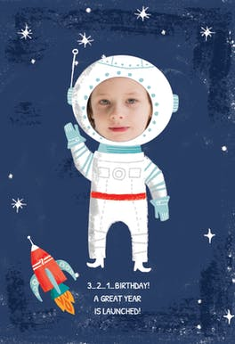 Blast Off - Birthday Card
